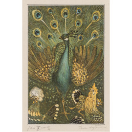 Pauw met kippen -  Theo van Hoytema  1878 - 1910 (5010.2022)
