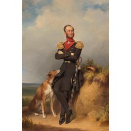 Portret van Willem II  koning der Nederlanden -  Jan Adam Kruseman 1839 (5010.2024)