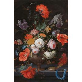 Stilleven met bloemen en een horloge - Abraham Mignon  ca. 1660 - ca. 1679 (5010.2031)