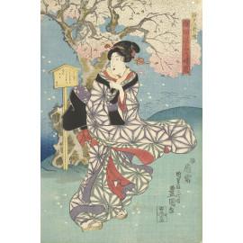 Stormachtige dag aan de Sumida rivier - Kunisada (I)  Utagawa 1844 (5010.2039)