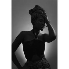 Afrikaanse vrouw zw-wit (5080.1024)