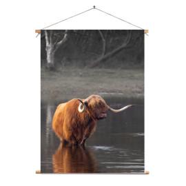 Textielposter © Karel Ton - Hooglander - Longhorn (6215.2702)