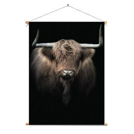 Textielposter © Karel Ton - Hooglander - Longhorn (6215.2800)