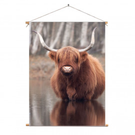 Textielposter © Karel Ton - Hooglander - Longhorn (6215.2833)