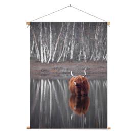 Textielposter © Karel Ton - Hooglander - Longhorn (6215.2867)