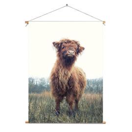 Textielposter © Karel Ton - Hooglander - Longhorn (6215.3142)