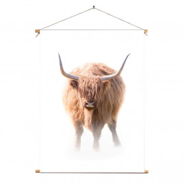 Textielposter © Karel Ton - Hooglander - Longhorn (6215.4779)