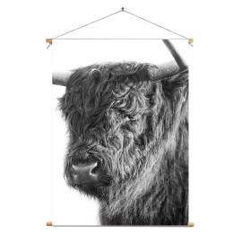 Textielposter © Karel Ton - Hooglander - Longhorn (6216.0801)