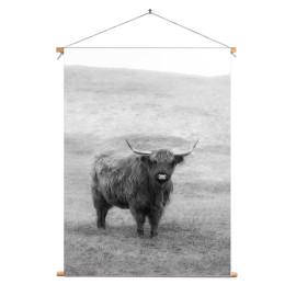 Textielposter © Karel Ton - Hooglander - Longhorn (6216.2553)