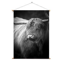 Textielposter © Karel Ton - Hooglander - Longhorn (6216.2810)