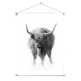 Textielposter © Karel Ton - Hooglander - Longhorn (6216.4779)