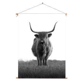 Textielposter © Karel Ton - Hooglander - Longhorn (6216.6117)