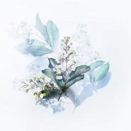 Wit bloempje aquarel (5025.1008)