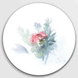 Muurcirkel Roze bloempje...