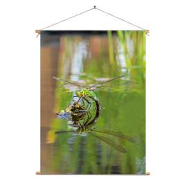 Textielposter © Dini Liefferink - Grote keizerlibel met spiegelbeeld (6219.1010)