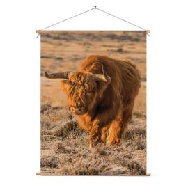 Textielposter © Dini Liefferink - Hooglander - Longhorn (6219.1020)