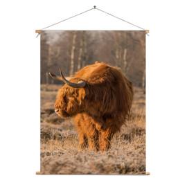 Textielposter © Dini Liefferink - Hooglander - Longhorn (6219.1021)