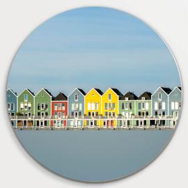 Muurcirkel © Ruud Engel Photography - Gekleurde Huizen Rietplas Houten (6225.1039)