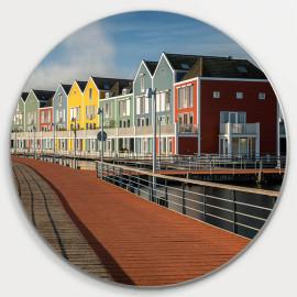 Muurcirkel © Ruud Engel Photography - Gekleurde Huizen Rietplas Houten (6225.1040)
