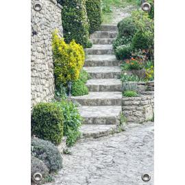 Tuinverruimer  - Stenen trap met planten (5054.1018)