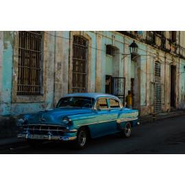 Wanddecoratie © René Groenendijk - Oldtimer Cuba Havana Straatbeeld (6226.1008)