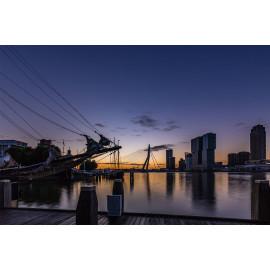 Wanddecoratie © René Groenendijk - Rotterdam Skyline (6226.1018)