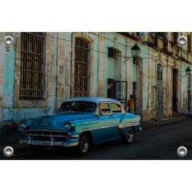 Tuinposter © René Groenendijk - Oldtimer Cuba Havana Straatbeeld (6226.1008)