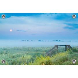 Tuinposter © René Groenendijk - Oudeland Mist Holland (6226.1083)