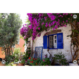 Tuinverruimer-Schuttingposter  - Voortuin Griekenland (5054.1076)
