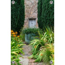 Tuinverruimer-Schuttingposter  - Tuin met oude Tuinmuur  (5054.1079)