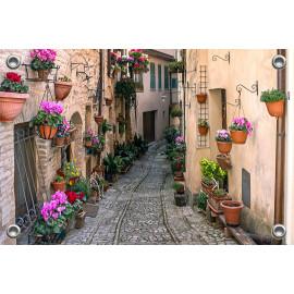 Tuinverruimer-Schuttingposter  - Straatje Italië (5054.1096)
