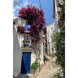 Tuinverruimer-Schuttingposter  - Steegje in Griekenland (5054.1097)