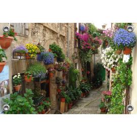 Tuinverruimer-Schuttingposter  - Straatje in Spello Italië  (5054.1098)