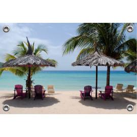 Tuinposter Tropisch Strand (5051.3005)