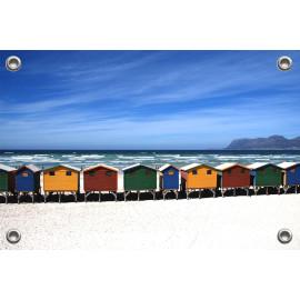 Tuinposter Strandhuisjes (5051.3010)