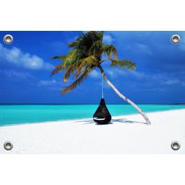 Tuinposter Strand op de Maladiven (5051.3027)