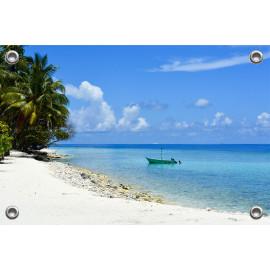 Tuinposter Strand en Zee Malediven (5051.3033)