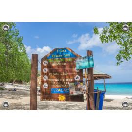 Tuinposter Playa Kenepa Curaçao (5051.3039)