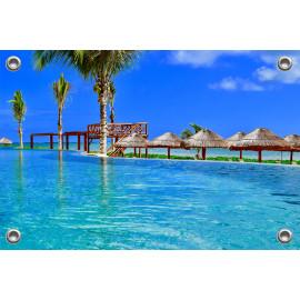 Tuinposter Infinity Pool Mexico (5051.3043)