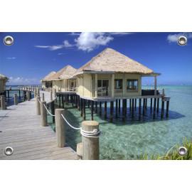 Tuinposter Samoa strand hut (5051.3054)