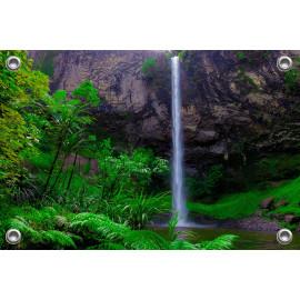 Tuinposter Waterval in Nieuw Zeeland (5052.3004)
