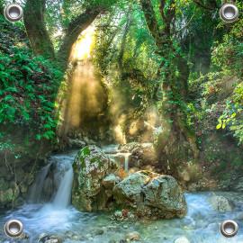 Tuinposter Jungle Kreek bos Griekenland (5052.3009)