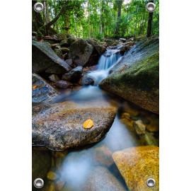 Tuinposter Waterval in tropisch regenwoud (5052.3018)