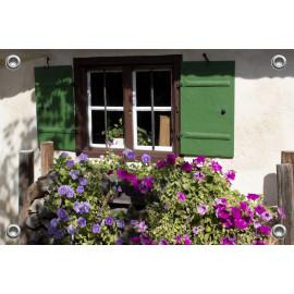 Tuinposter-Schuttingposter Boerderij met Primula (5020.3002)