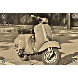 Tuinposter Scooter Vespa Zwart/Wit (5035.1006)