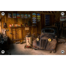 Tuinposter Garage Vintage (5035.3010)