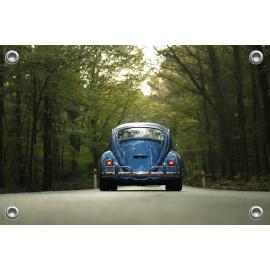 Tuinposter Auto Blauwe Kever (5035.3037)