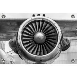 Tuinposter Vliegtuigmotor...