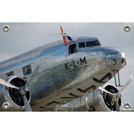 Tuinposter Vliegtuig KLM...