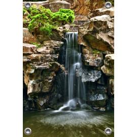 Tuinposter waterval in botanische tuin (5050.3017)